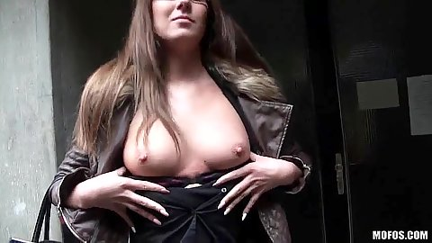 Flashing some boobs with euro girl for some money Angel Blade