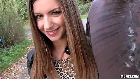 Intimate brunette and blowjob half dressed Stella Cox