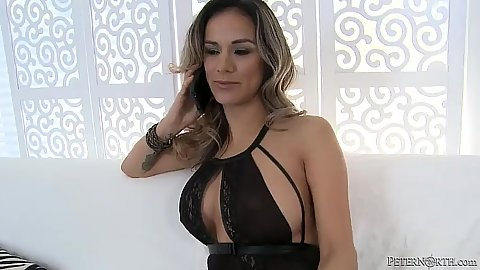 Lovely milf Nadia Styles gives fellatio and then cowgirl grinding