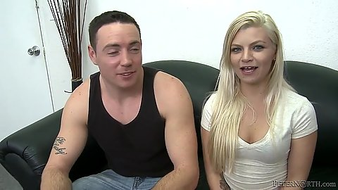 Blonde wanna be porn star gets naked Alex Little