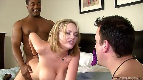 Cuckold and doggy style with the wife enjoying a black cock Katie Kox