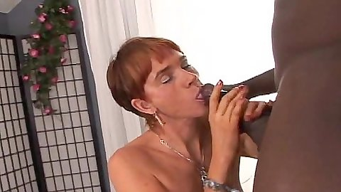Redhead Cica loves getting all slimy and wet for black dick sucking