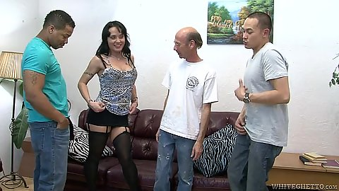 Seductive milf in lingerie joins a gang bang Mahina Zaltana
