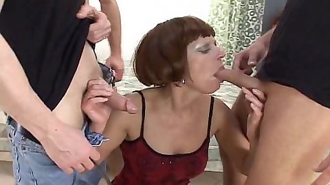 Spicy lingerie mature skank does threesome suck Sugar