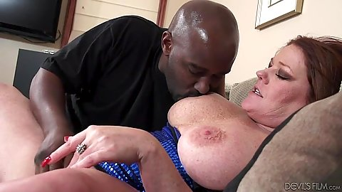 Big breasts milf fingered and interracial blowjob Kate Faucett