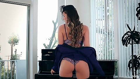 Naked girl by a piano is the wife that needs it Tori Black