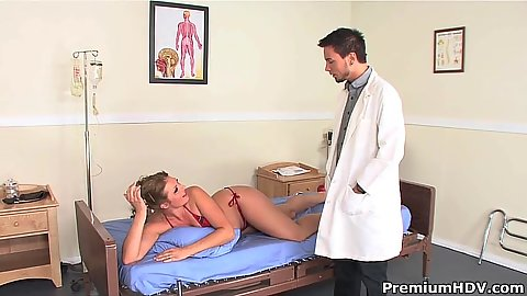 Doctor visit with Ava Rose needs to get pussy checked