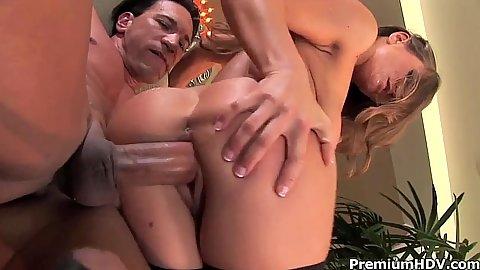 Arousing hardcore pumping a skinny chick Rita Faltoyano
