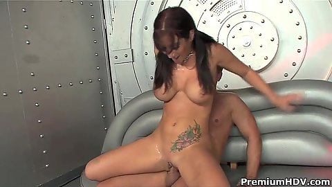 Pussy pounding with reverse cowgirl tattoo chick Jayden Jaymes