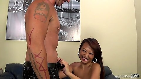 Teasing asian petite Miko Dai loves to suck Porno Dan