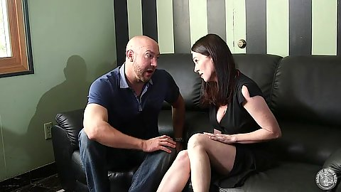 Horny fully clothed lonely milf RayVeness doing blowjob