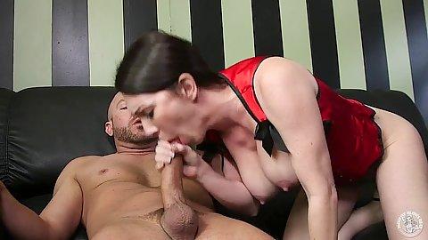 Kinky milf lingerie blowjob with big boobs RayVeness