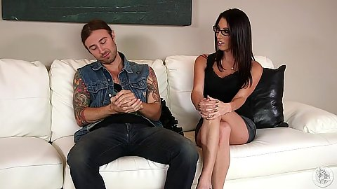 Fully clothed brunette Dava Fox in stepdaughter scene
