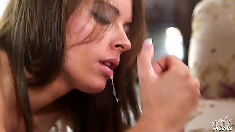 Blowjob with a titty fuck from deep throat nympho Kayla West