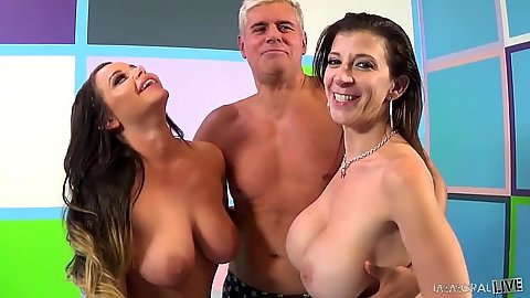 Milf threesome with Rachelle Richey and Sara Jay