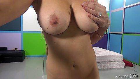 Tender big tits and refreshments with girls Corinne Blake and Marina Visconti