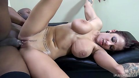 Big boobs brunette sex with fake boobs Lylith Lavey