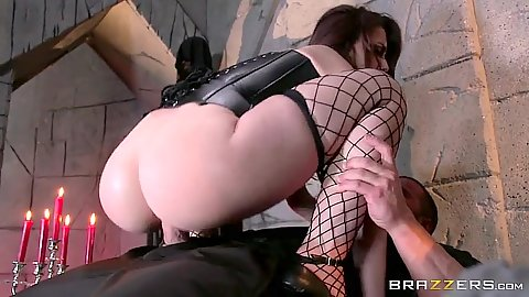 Dungeon fetish anal sex with small boobs redhead in corset Mandy Muse