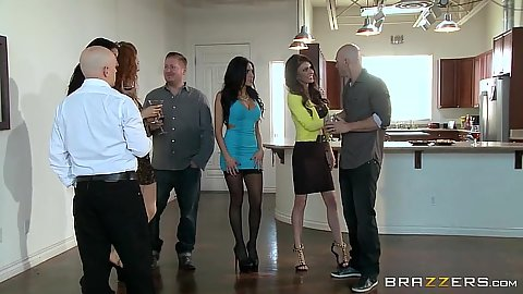 Group of milfs business women come in for fun Jessica Jaymes and Jaclyn Taylor