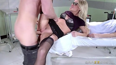 Doctor fucks husband while wife is sick in bed in hospital Jessa Rhodes