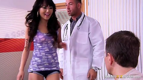 Asian girl with tight clothes needs doctor help Miko Dai
