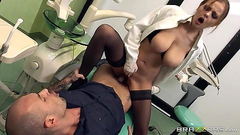 This naughty dentist cant do teeth for shit so she fucks patients Candy Alexa
