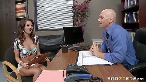 Ashley Sinclair enters the porn audition office