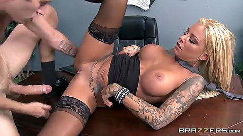 Boss fucks his employee with nice tits Britney Shannon