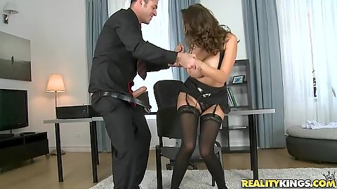 Office whore with curvy ass milf Sensual Jane