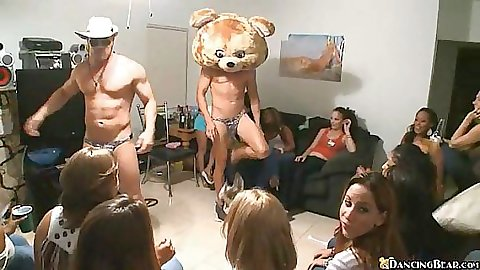 Dancing bear has special delivery for them