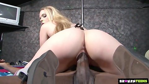 Cowgirl black cock white girl sex featuring Hydii May