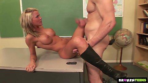 Classroom college bang with big boobs slim Mckenzee Miles