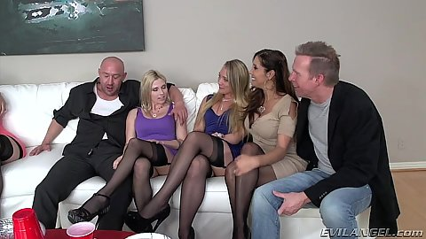 Group of swingers meat up Christie Stevens and Mandy Muse and Nadia Styles and Francesca Le