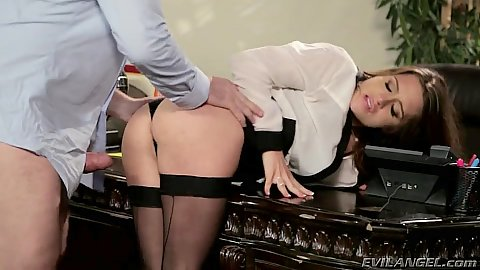 Lively porn star half dressed sex with Veronica Vain