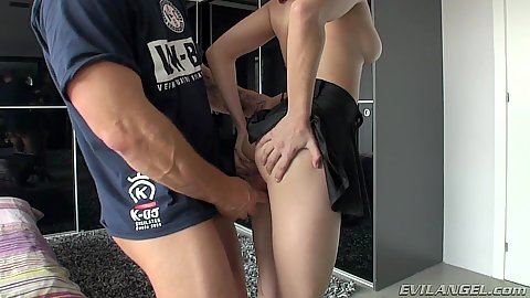 Skinny Jimena Lago gets cock slipped in from behind