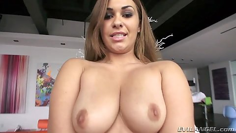 Impressive latina with real natural boobies and a big ass Klara Gold