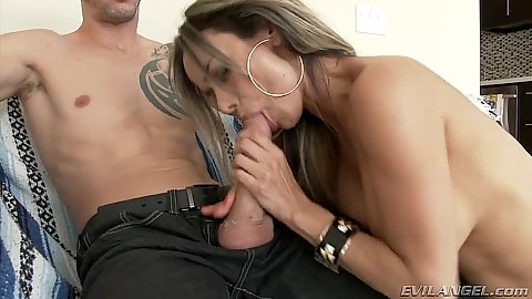 Sucking cock latina Nadia Styles gets rear entry fucked