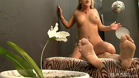 Hairy beaver blonde girl sits on mans cock Jocelyn