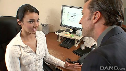Horny new office secretary sucks penis Tiffany Tyler
