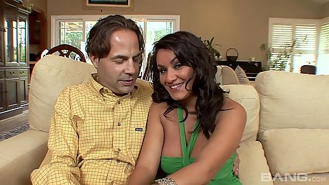 Silly latina Charley Chase in cuckold interracial