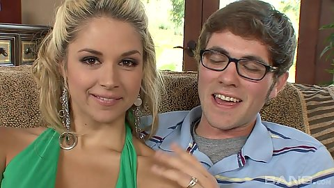 Sucking cock blonde wife Sarah Vandella is too nice not to cheat