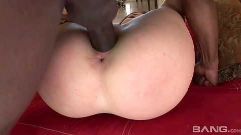 Black cock latina girl pussy pounded on love making chair with Lexi Brooks