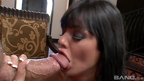 Big dick blowjob and close up rear entry with Sadie West