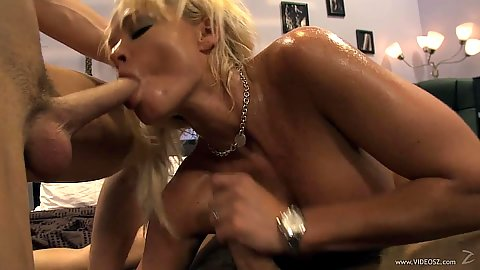 Threesome milf sharing wife with Rhylee Richards