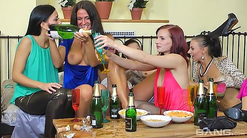 All girls party with lesbians Bella Baby and Victoria Puppy and Ashley Woods