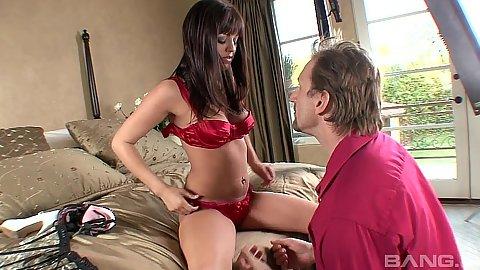 Bras and panties girl Sadie West