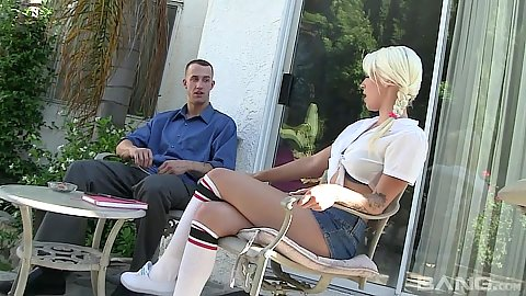 Elegant fully clothed Stevie Shae outdoors