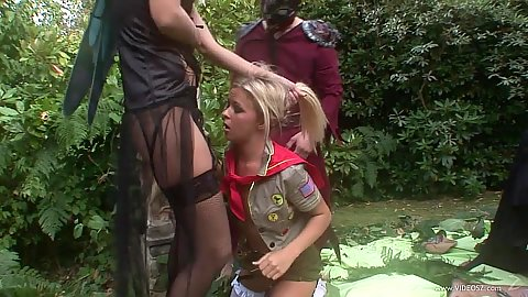 Blonde girl head pushed in during orgy gang bang Starr and Michelle Thorne and Cindy Behr