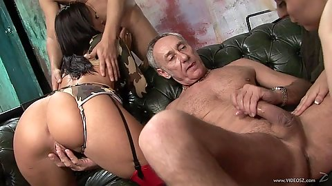 Happy to get laid girl Tammie Lee and Paige Fox in group