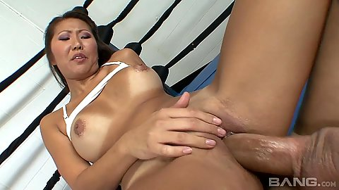 Vixen tanline big boobs asian Beti Hana